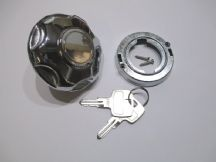 Locking fuel cap - chrome finish